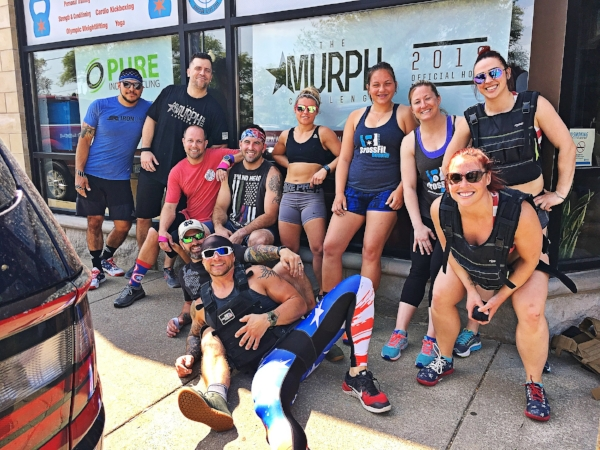 Memorial day Murph 2018 - CrossFit Beverly athletes took on the annual Memorial Day Murph Challenge.  Check out photos from a great day of paying tribute to LT. Michael P. Murphy
