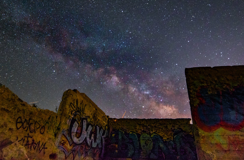 One of those, where the hell am I that I can have buildings and the Milky Way show an appearance? Oh yeah, this was only one photo. No stacking no adding in the foreground, just one badass shot.