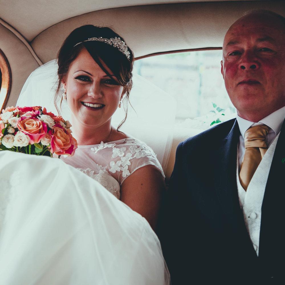 BRIDE PARTY ARRIVES -