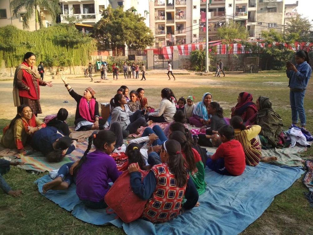 Meet To Sleep (2018) Delhi.  Srijanatmak Manushi Sanstha in association with One Billion Rising Delhi