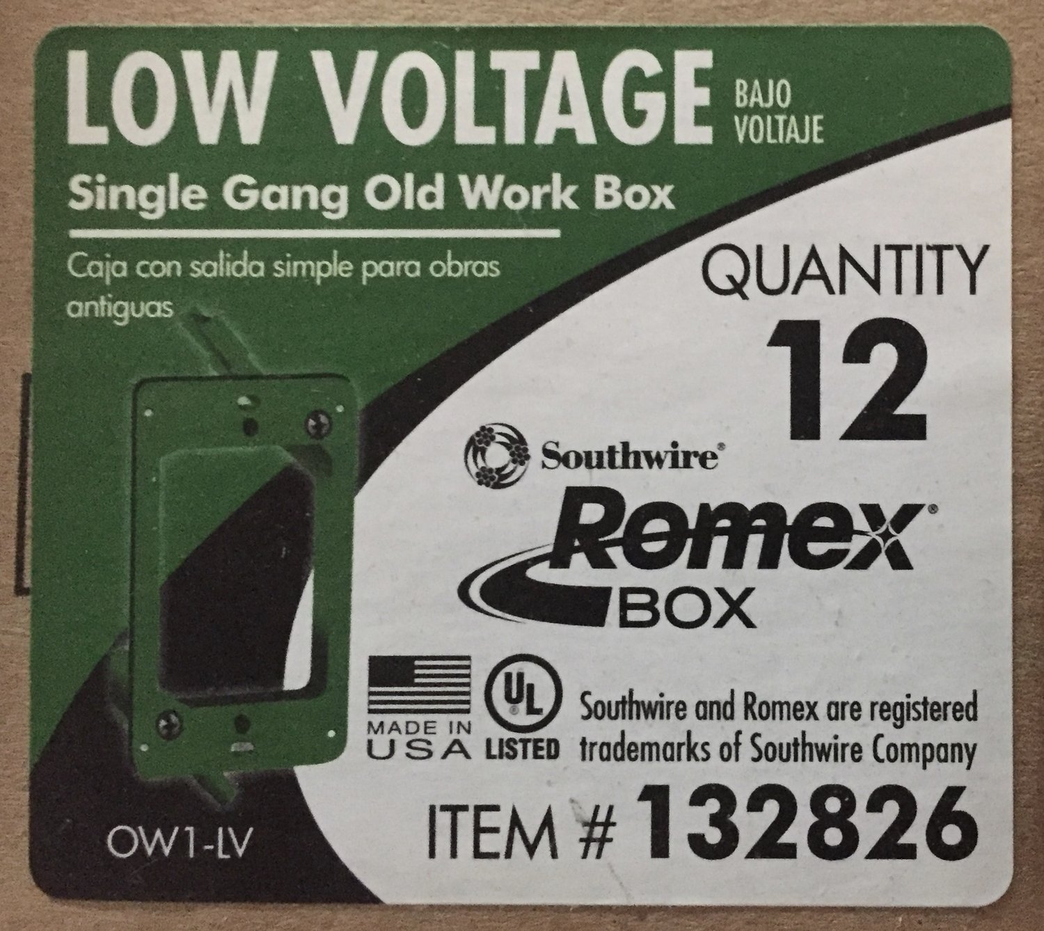 Low Voltage Single Gang Old Work Box (box of 12) — Habitat for ...