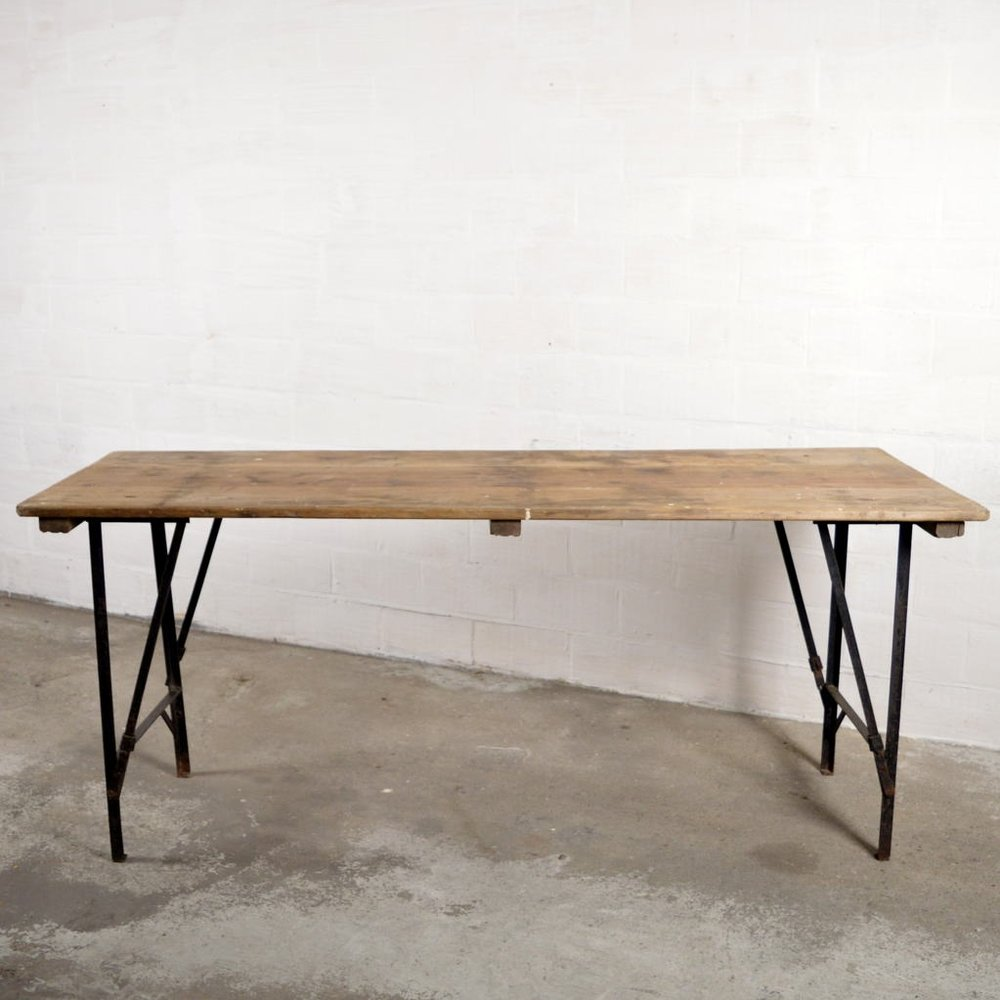 Gentil Vintage Industrial Folding Table 1
