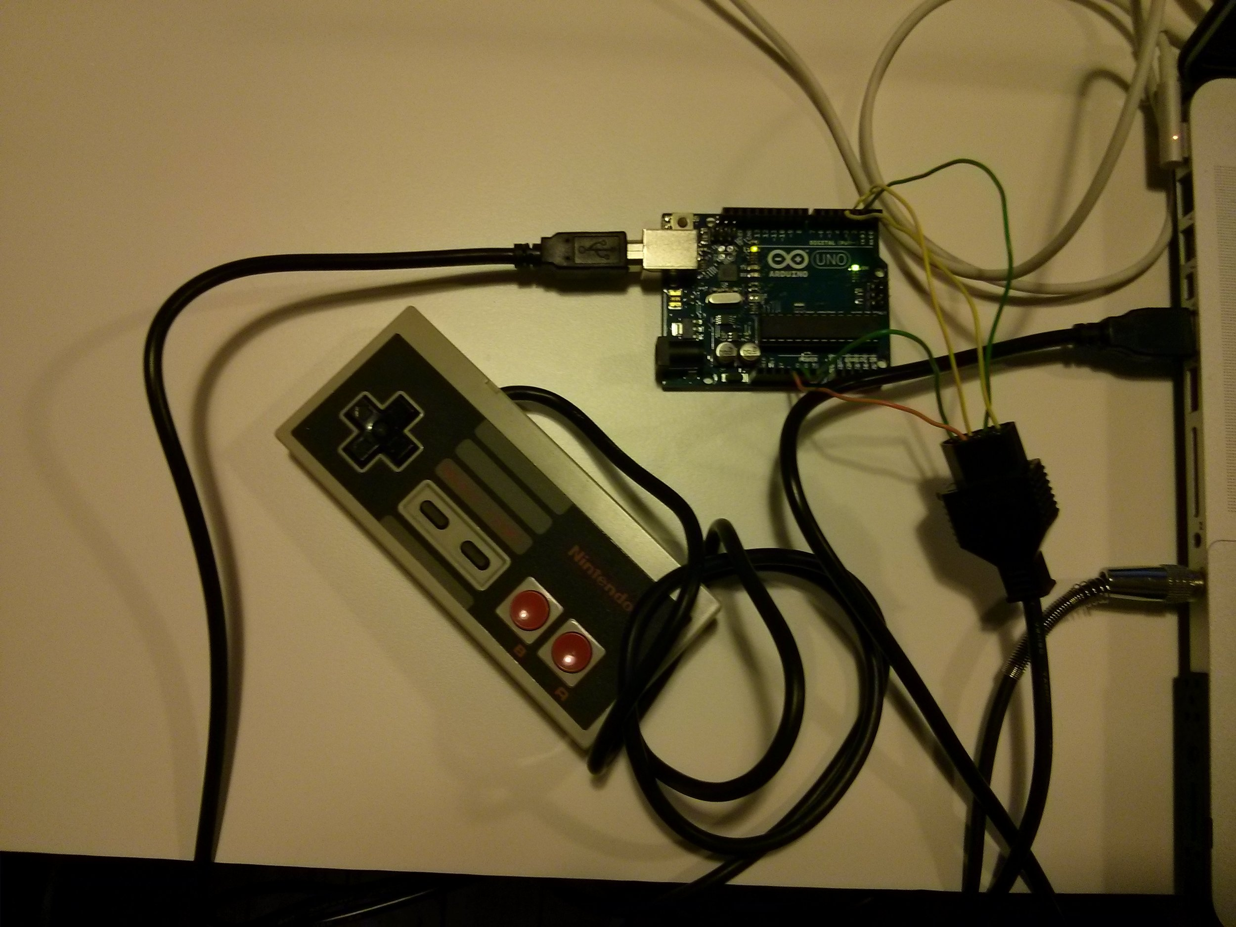 NES controller with arduino