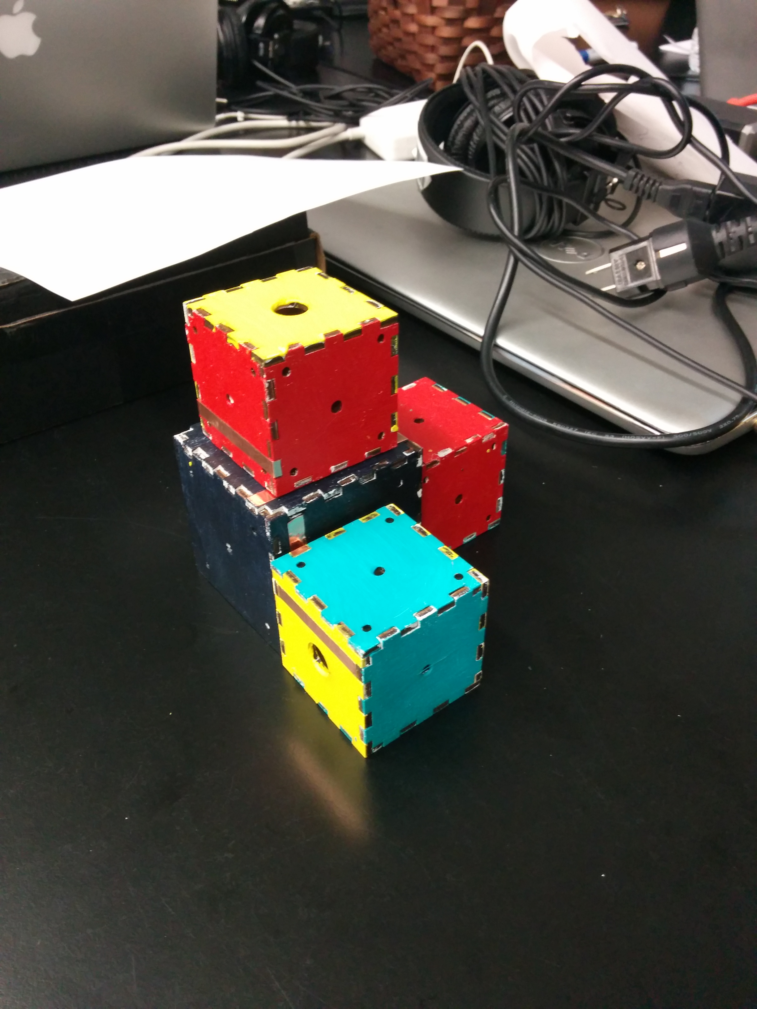 Stacked cubes!