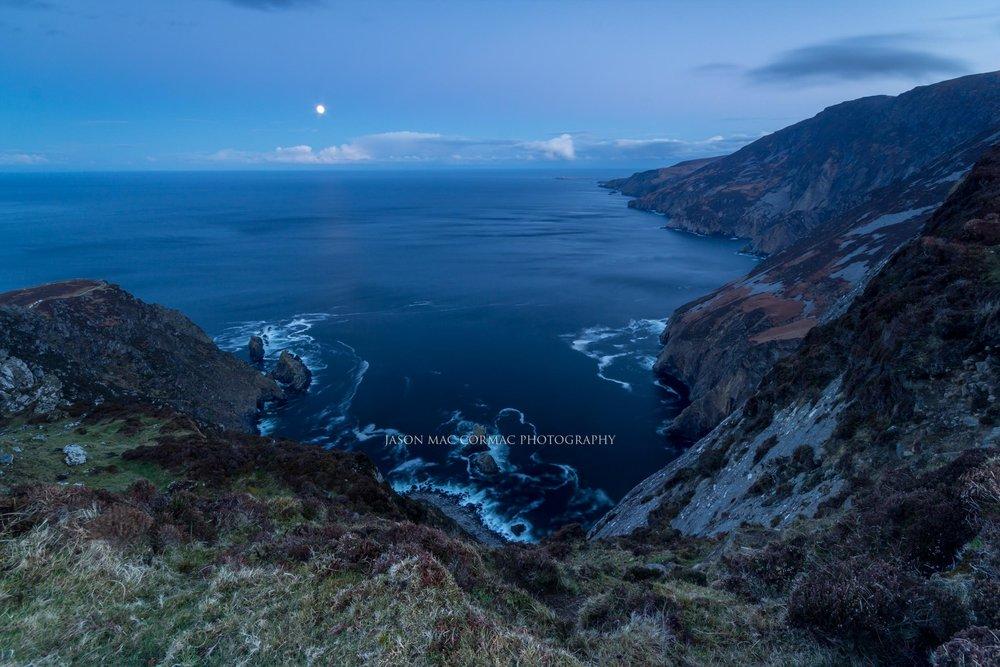 Slieve League Cliffs by Moonlight