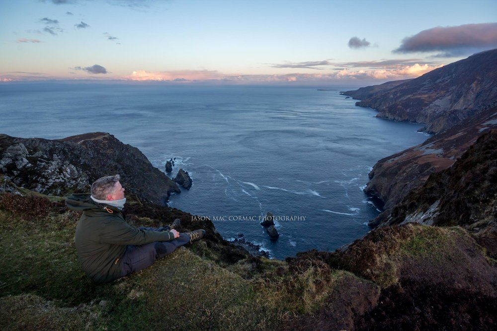 Enjoying the view at Slieve League