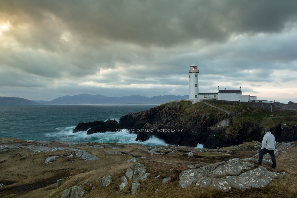Waking up at Fanad head Lighthouse