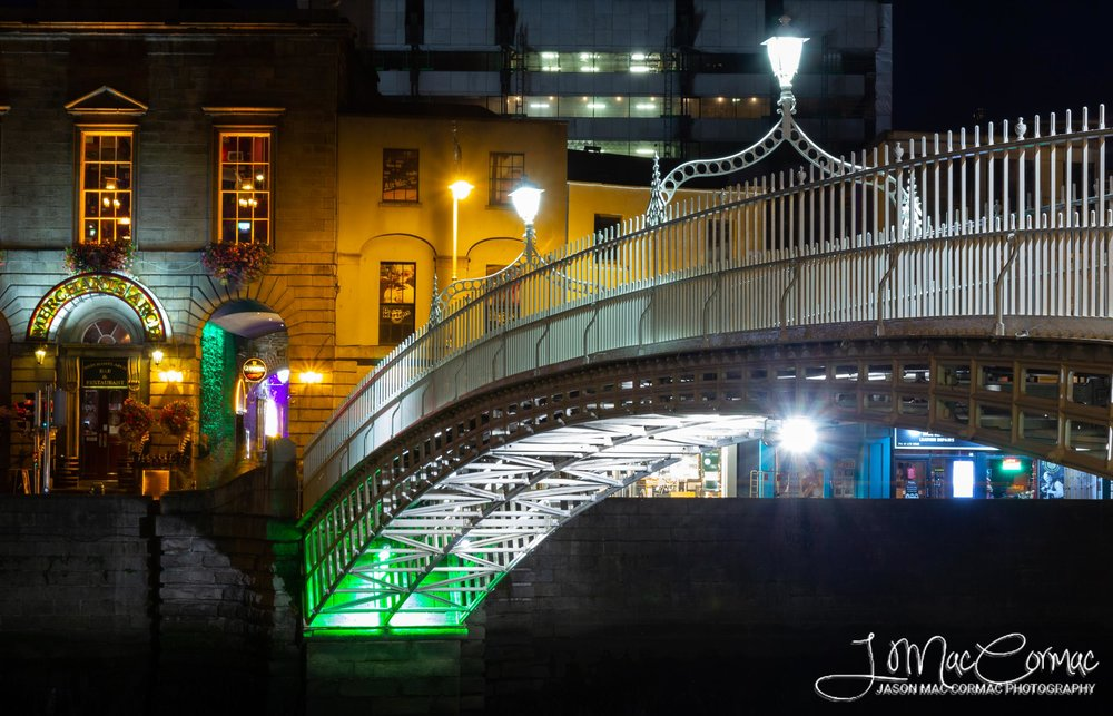 Halfpenny Bridge and the Merchants Arch