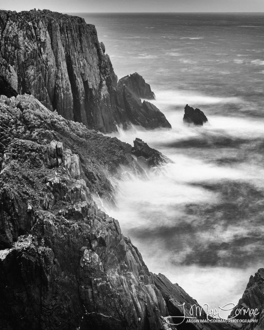 Coastal cliffs off Malin Head, County Donegal