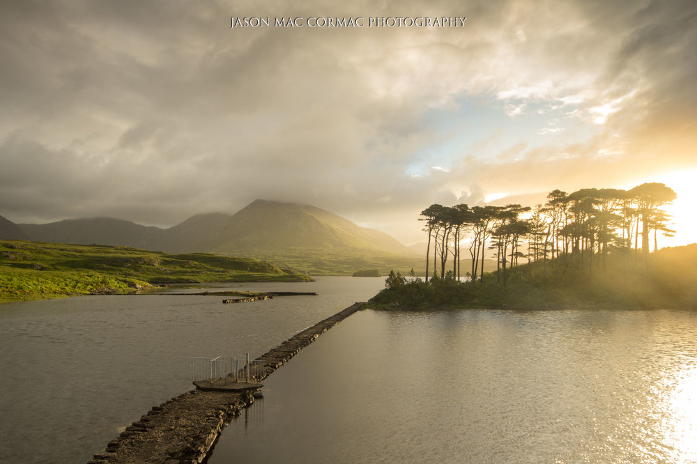 Gorgeous light at Pine Island in Connemara