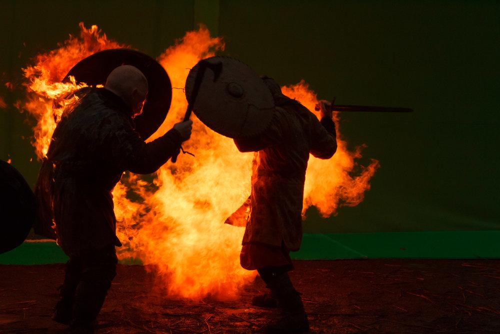 #Vikings stunt crew Stunt Register Ireland.