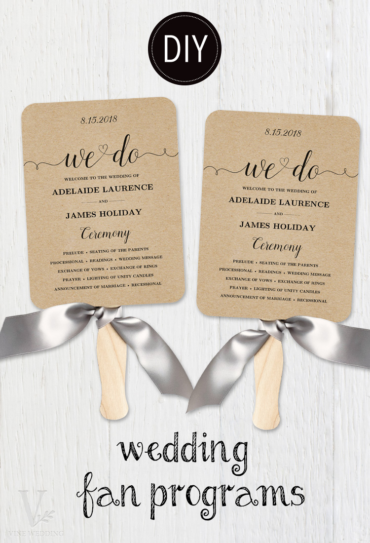 How to Make A Wedding Fan Program