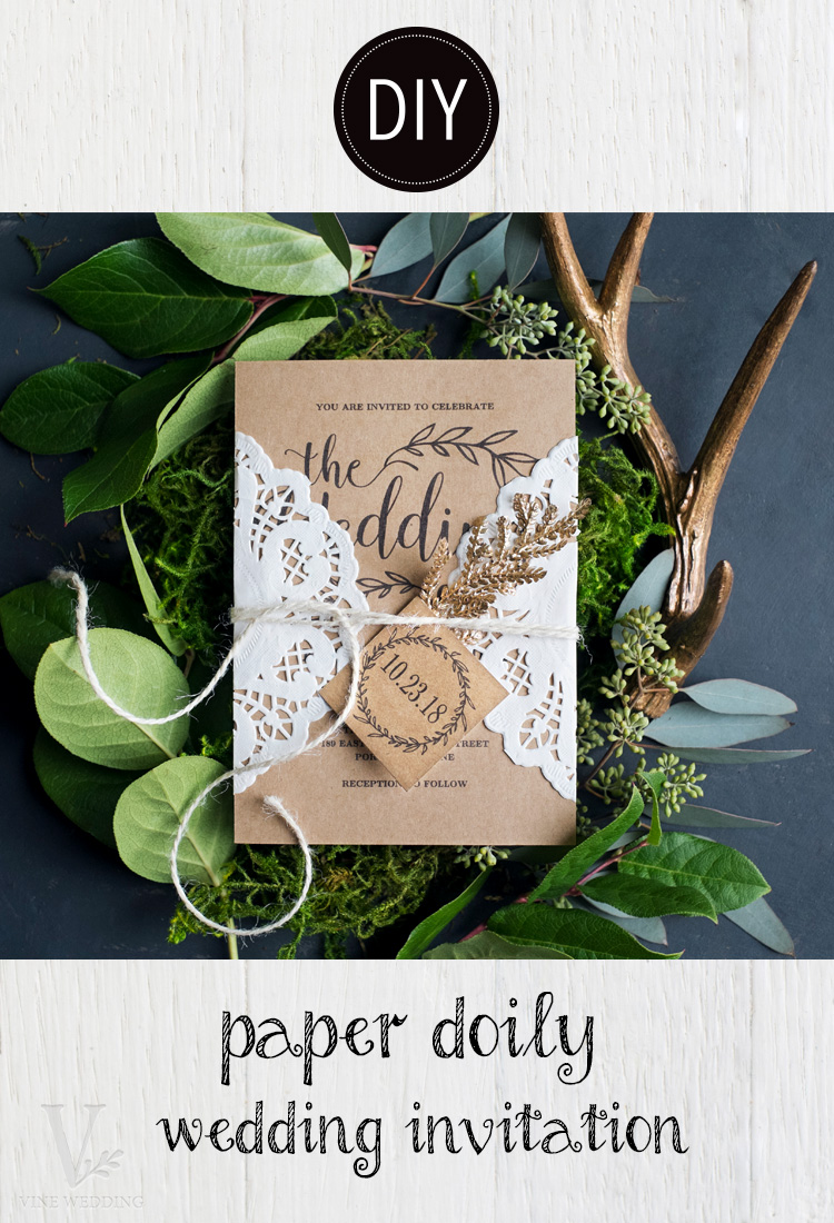 DIY Paper Doily Wedding Invitation — Vine Wedding