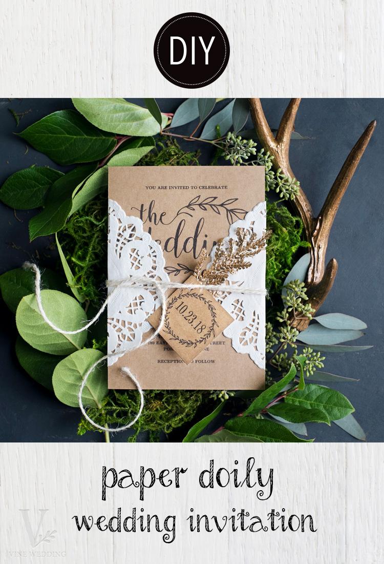 Easy DIY Paper Doily Wedding Invitation
