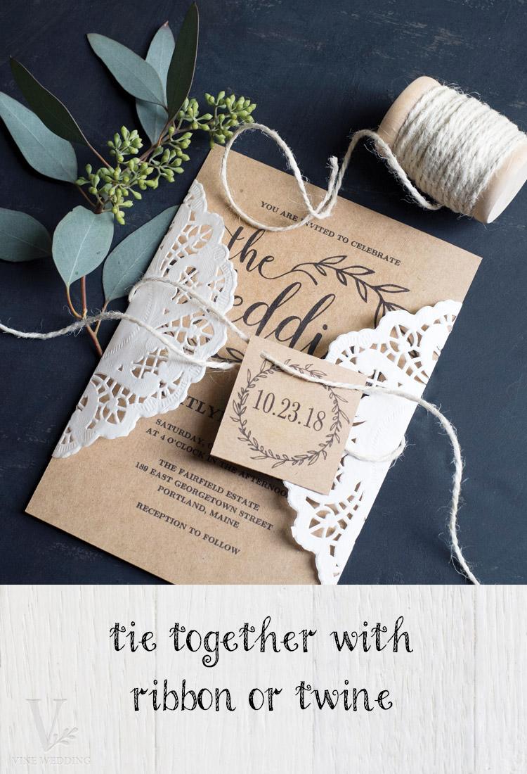 DIY Paper Doily Wedding Invitation — Vine Wedding