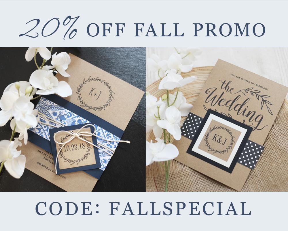 20% Off Fall Promo!
