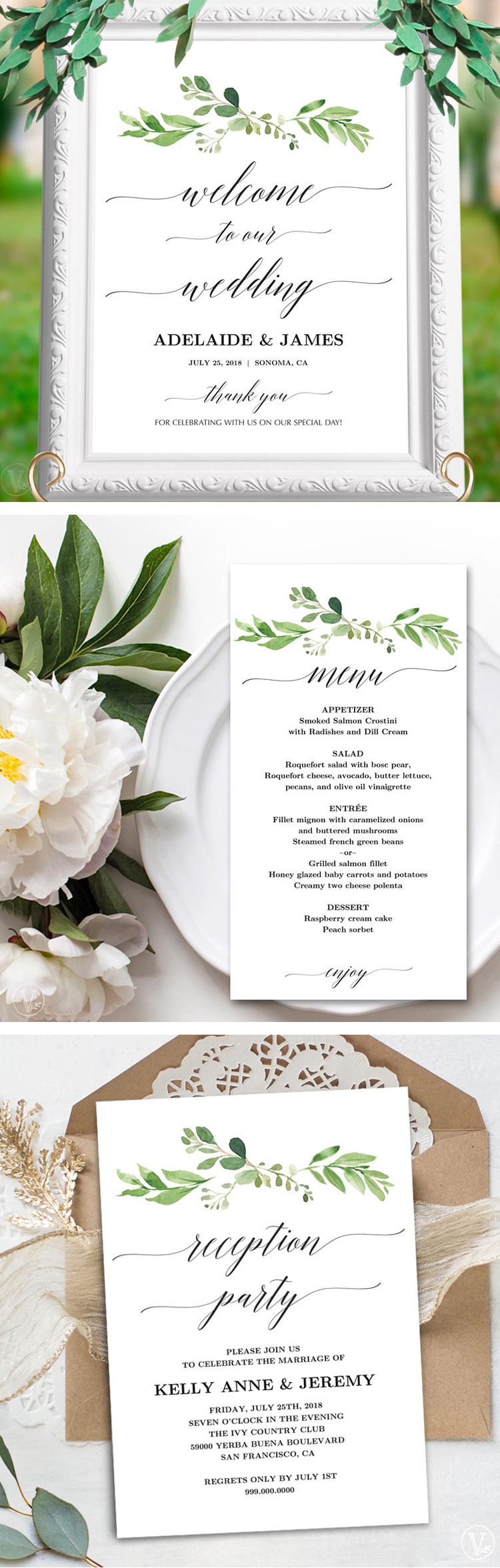 Greenery Wedding Reception