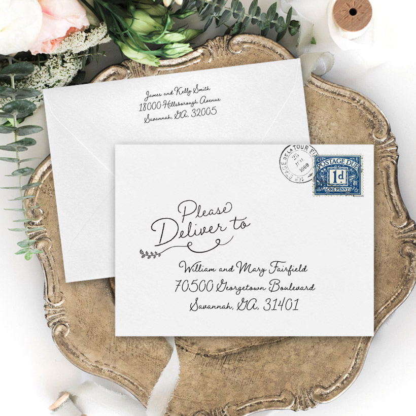 Wedding Envelope Addressing Template