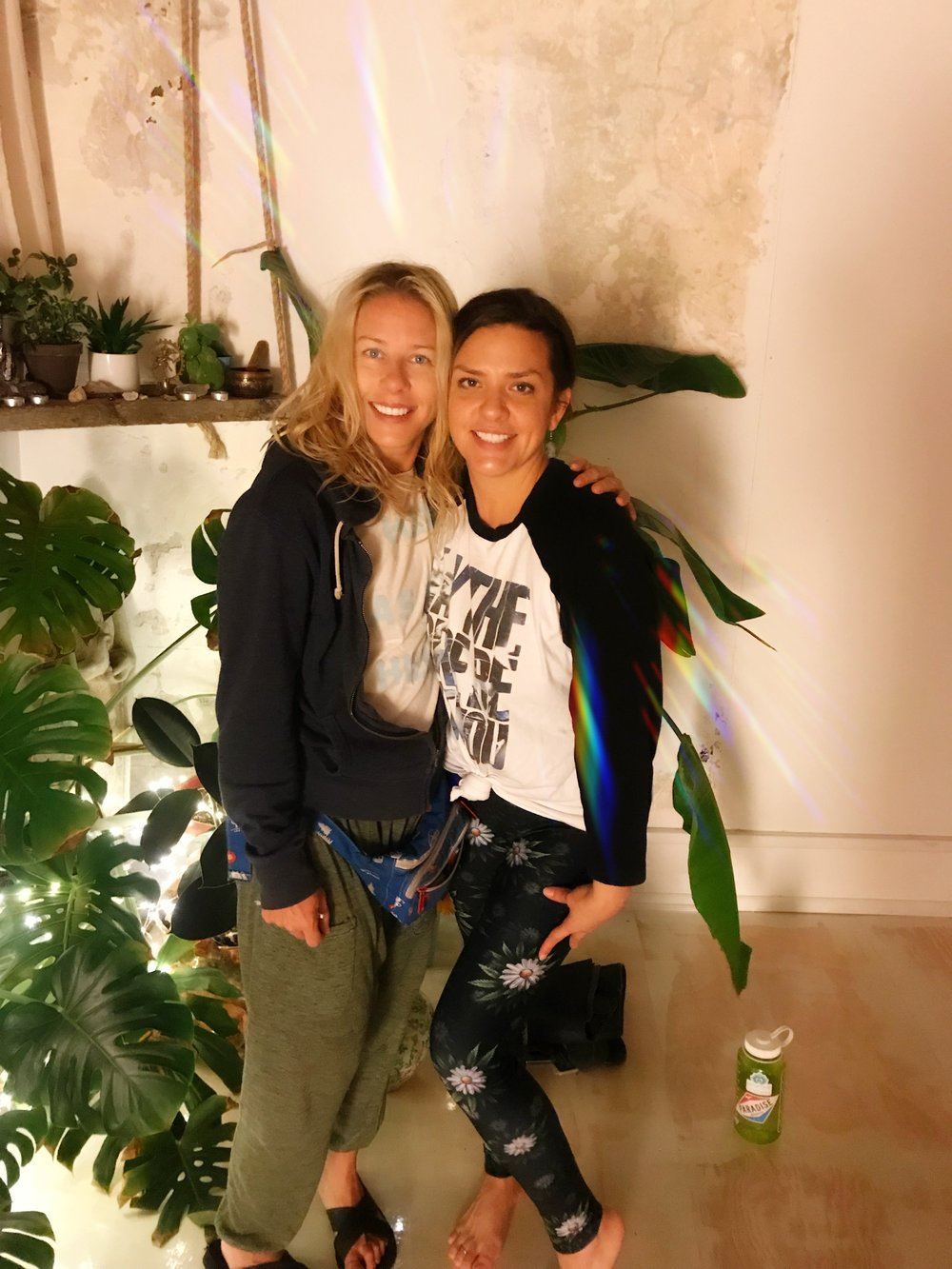 Jen Hicks & our Founder Heather Alexandar at Urban Sanctuary after an epic Ganja Yoga class