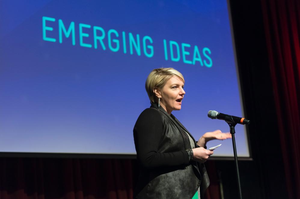 AIGA Boston board member Jodi Vautrin
