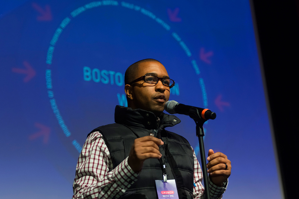 AIGA Boston board member Jason Stevens
