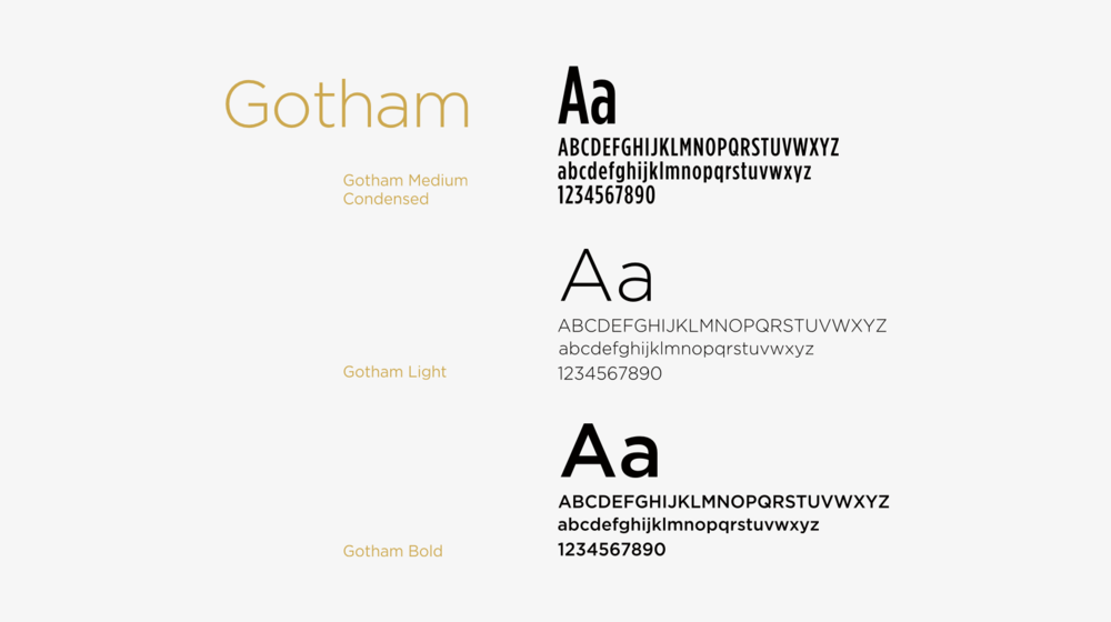 athletesRx typography set in Gotham Light and COndensed typeface