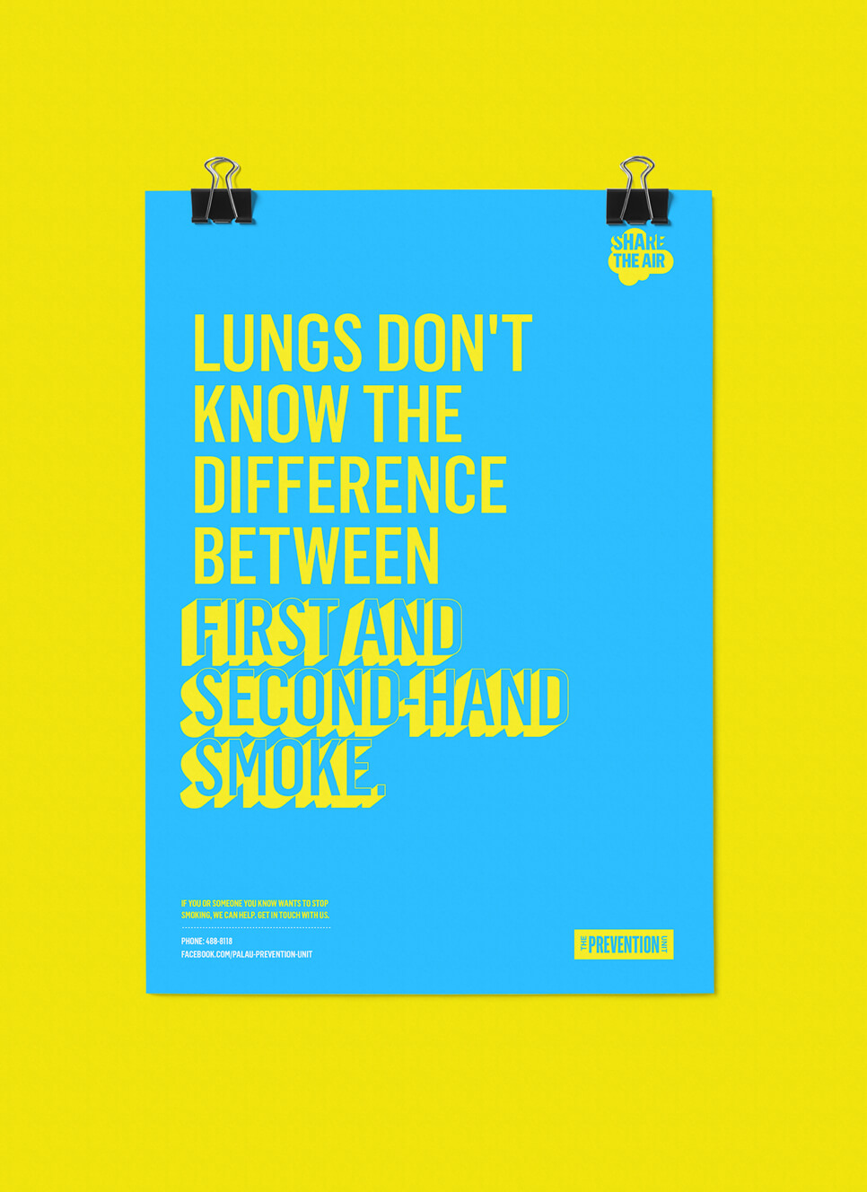 Share the Air second-hand smoke branded campaign posters