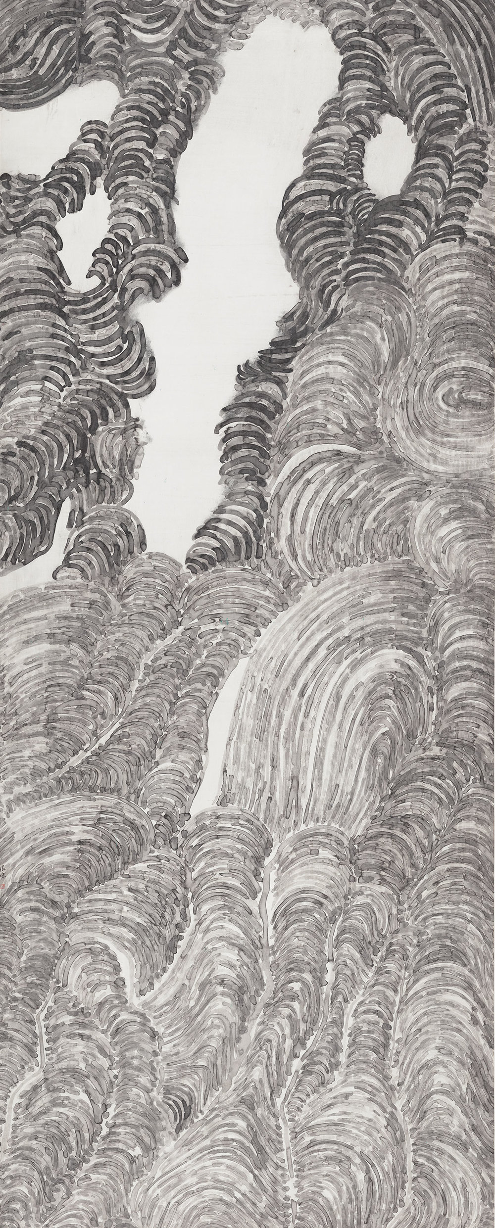 Copy of 山外山系列  纸本设色  212x85cm  2017.jpg