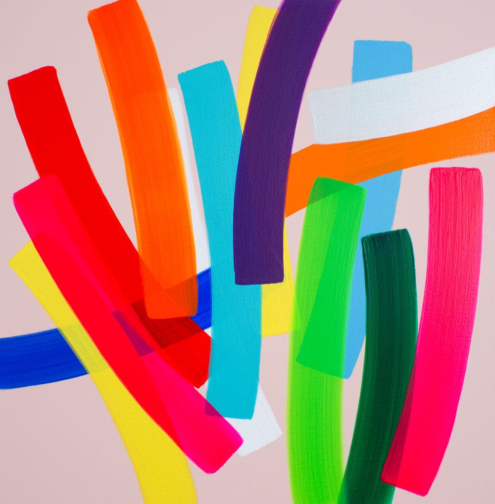 11. Un Passage , 60x60cm, Acrylic on Canvas, 2015.jpg