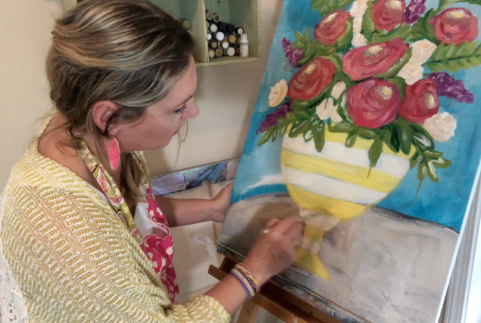 Watch me as I paint this still life floral from start to finish! By Melissa Lewis