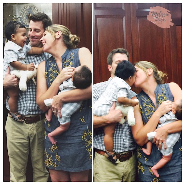 True Lewis' adoption day ten months later.