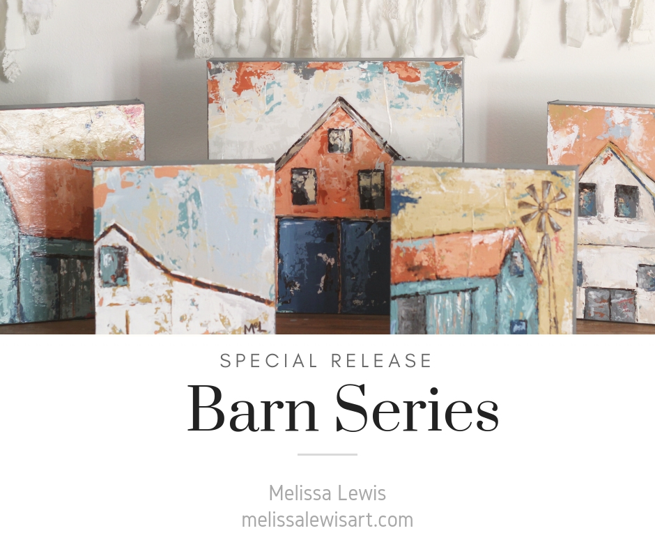 Melissa Lewis Barn Canvas Paintings Series