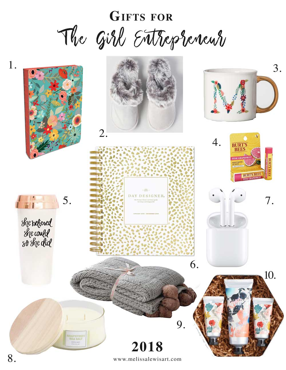 Girl Entrepreneur Holiday Gift Guide by Melissa Lewis