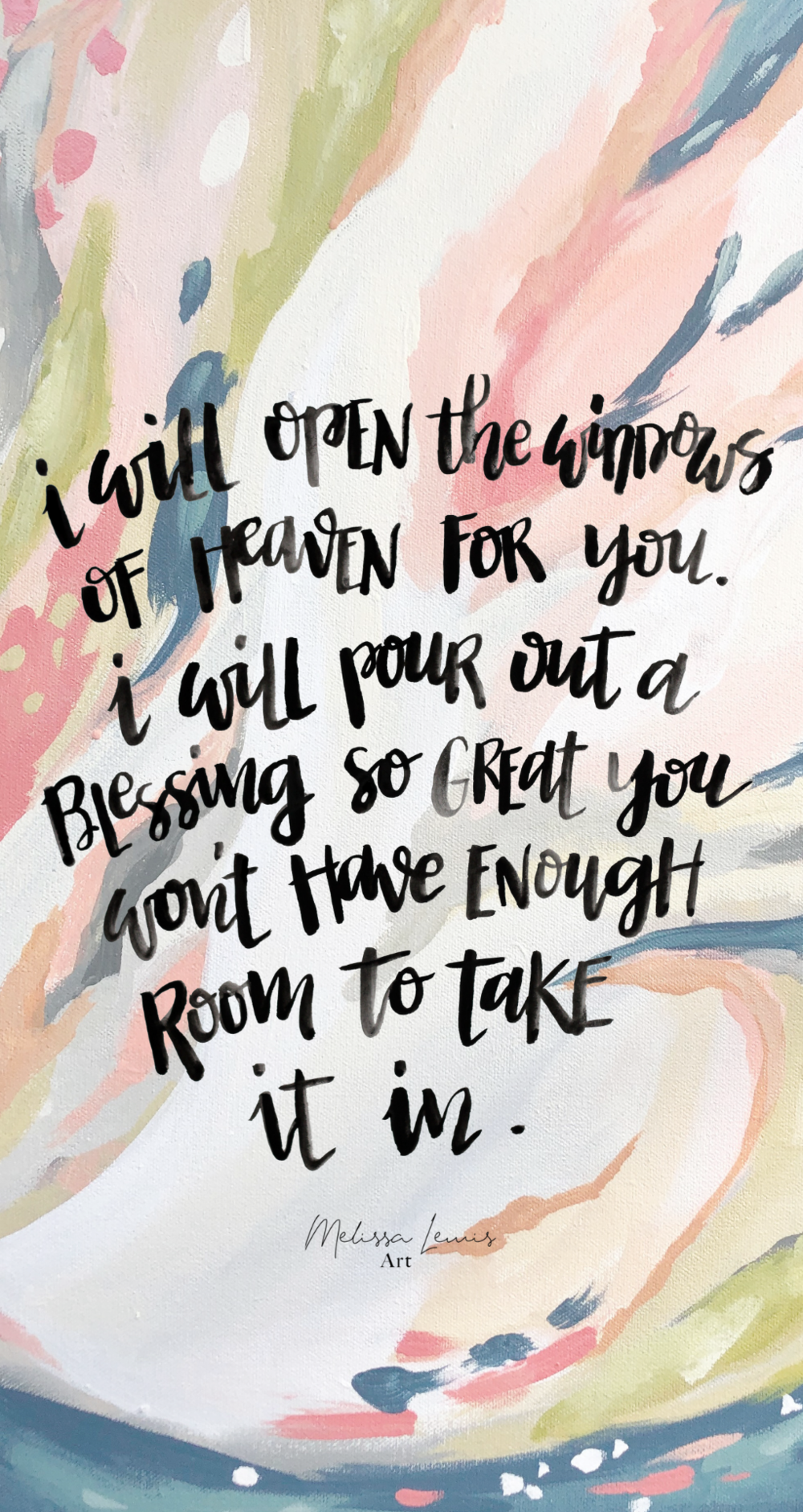 March 2019 iPhone Screensaver Scripture and Art by Melissa Lewis