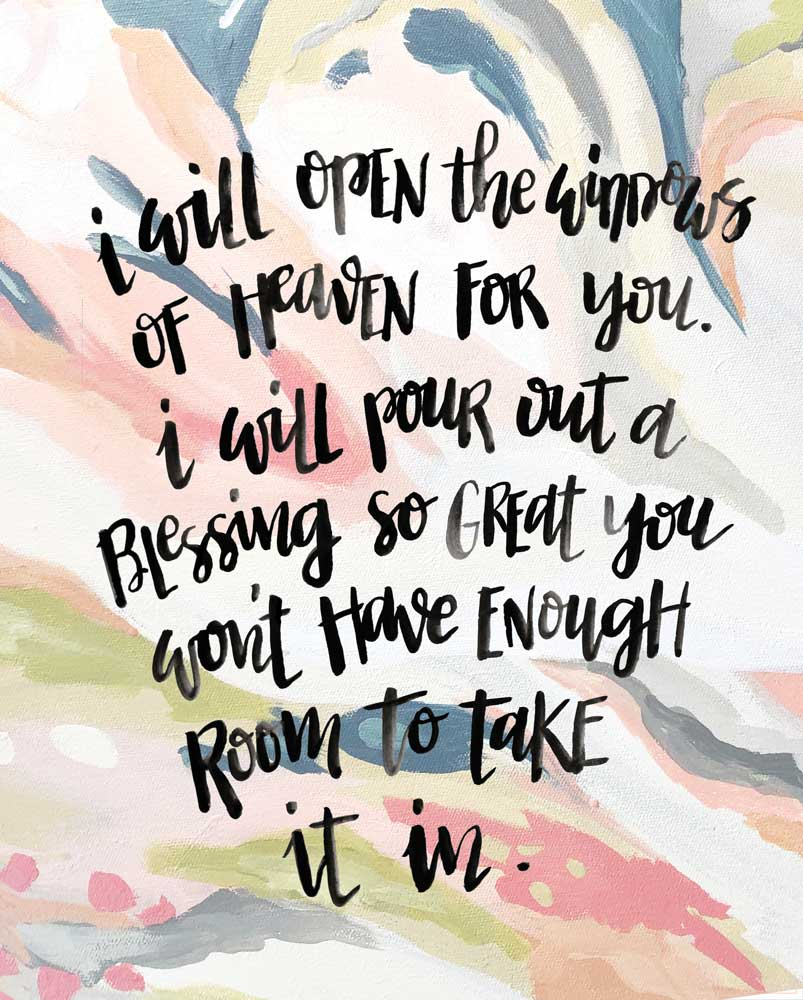 March 2019 Free Art and Scripture 8 x 10 Print by Melissa Lewis