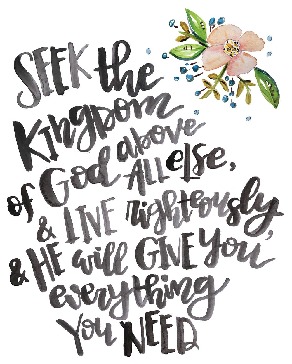 Melissa Lewis Art Hand Lettered Scripture Free 8x10 Print Download.