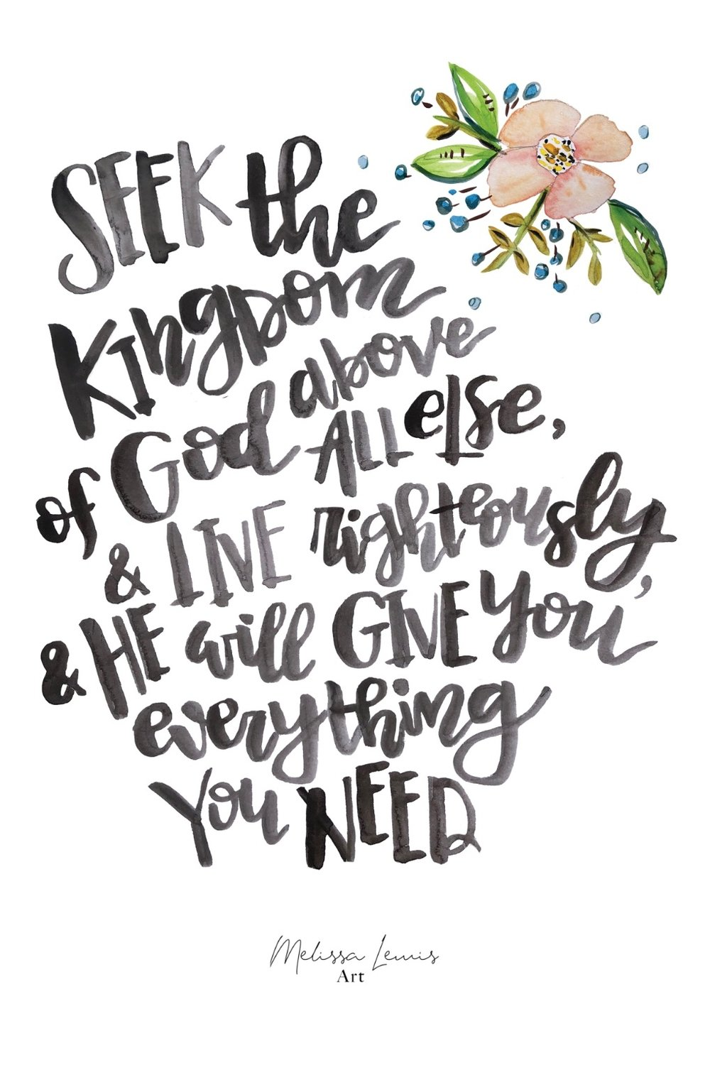Melissa Lewis Art Hand Lettered Scripture Free iPhone Wallpaper.