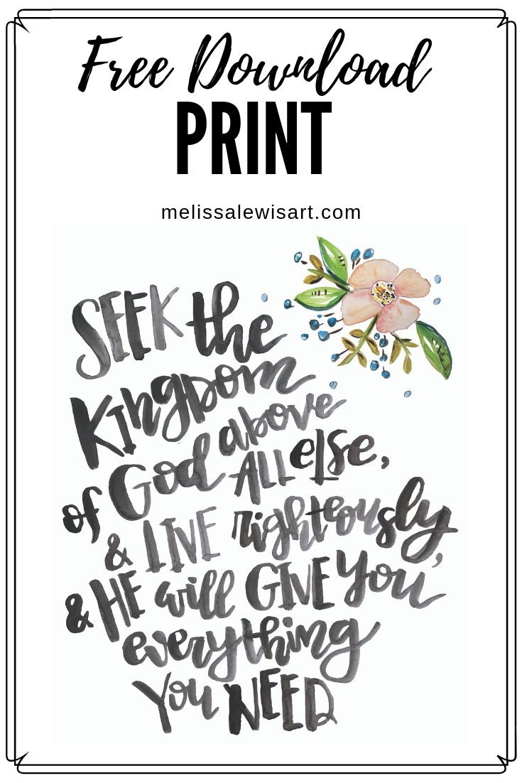 April 2019 iPhone Screensaver & Print Scripture and Art by Melissa Lewis