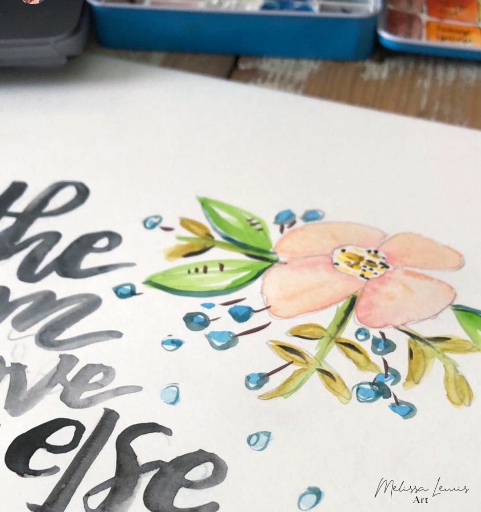 Melissa Lewis Art Hand Lettered Scripture Free iPhone Wallpaper.