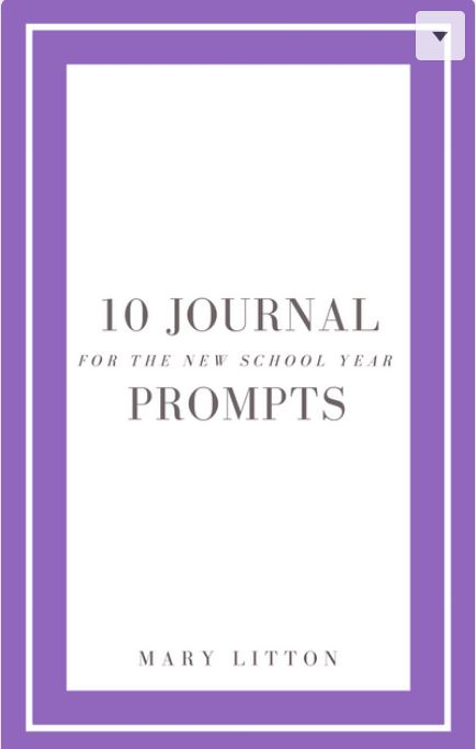Sign Up Below to Receive 10 Journal Prompts for New School Year - Take time during the hectic start of the school year to be intentional. Ten days of journal prompts will help you focus on what really matters for you and your family and set goals for the new year. Sign up with the form below to receive your free book of journal prompts.