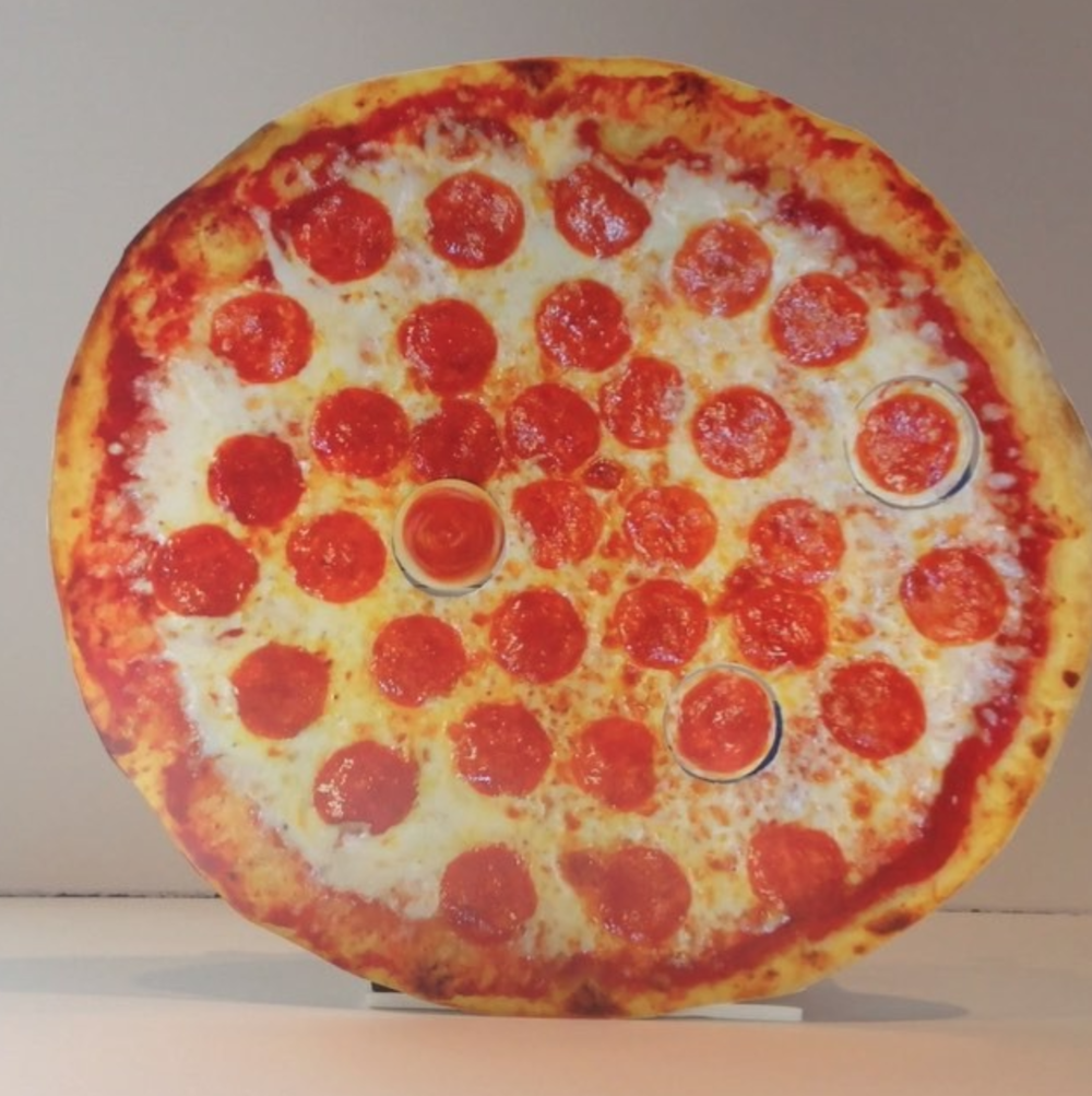 Pizza's Here! by Jennifer Zwick (Featuring Spinning Pepperoni) | $314.3.14159265359