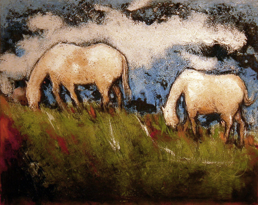 Yellow Horses Landscape