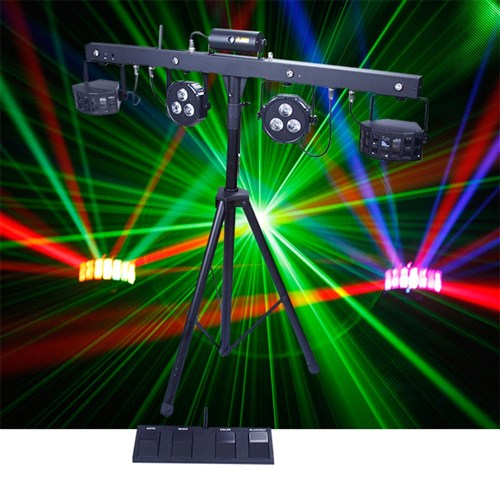 party bar - LED = Strobe + Lazer