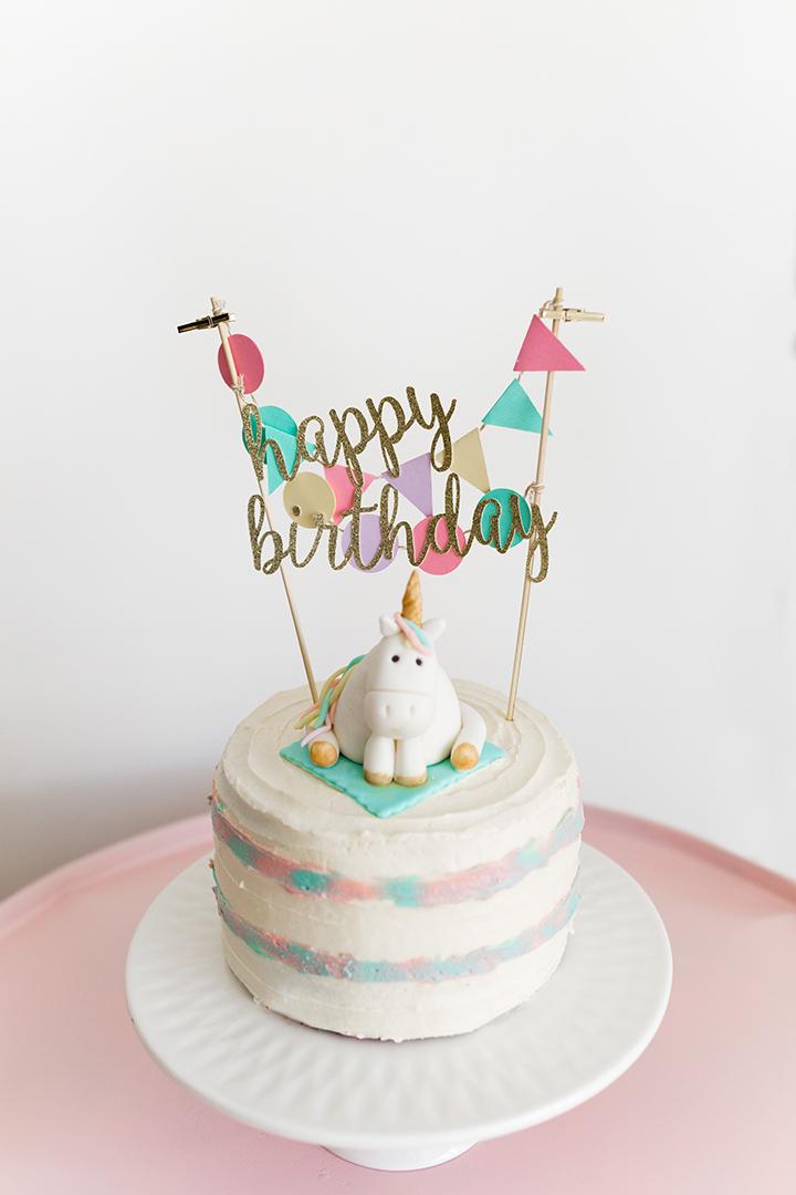 Magical Unicorn Cake Topper