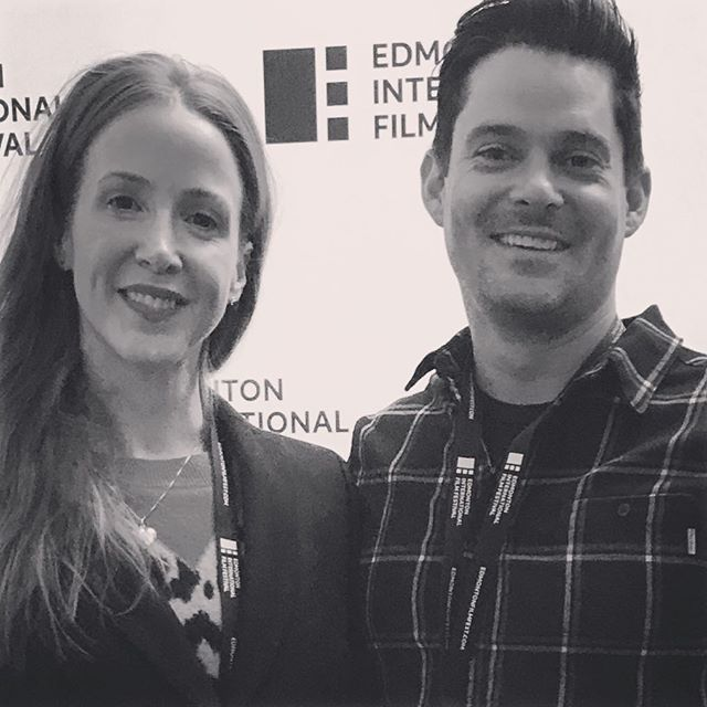 @virginiareece & @cadendouglas82 at the @edmfilmfest screening of POP�� #eiff2018 #shortfilm #alberta #edmonton