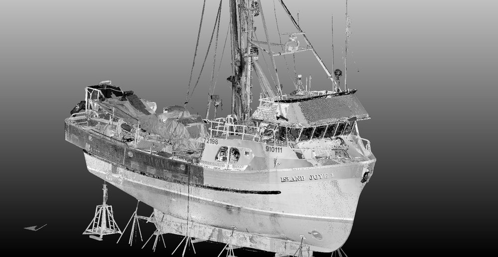 Fishing vessel 3D Scan