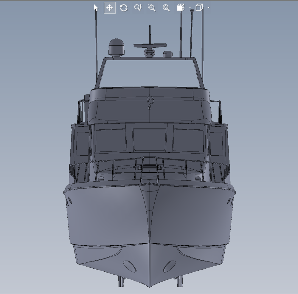 As Built 3D Model of Yacht