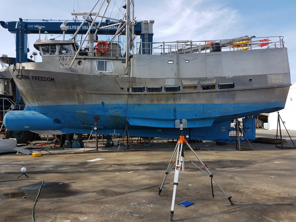 3D scanning of fishing vessel