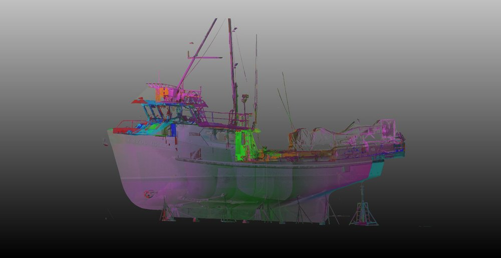 3D data of fishing boat
