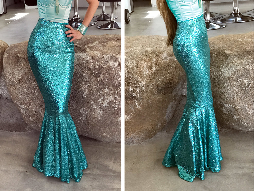 adult sequin mermaid halloween costume classic mermaid tail aqua